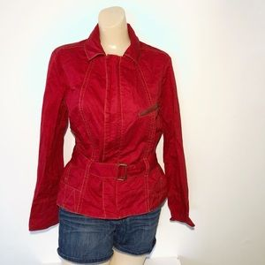 CABI RED JACKET WITH BELT